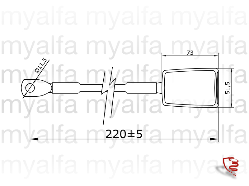 Belt tensioner with safety Spider for 105/115, Spider, Interior, Seats, Seat belts