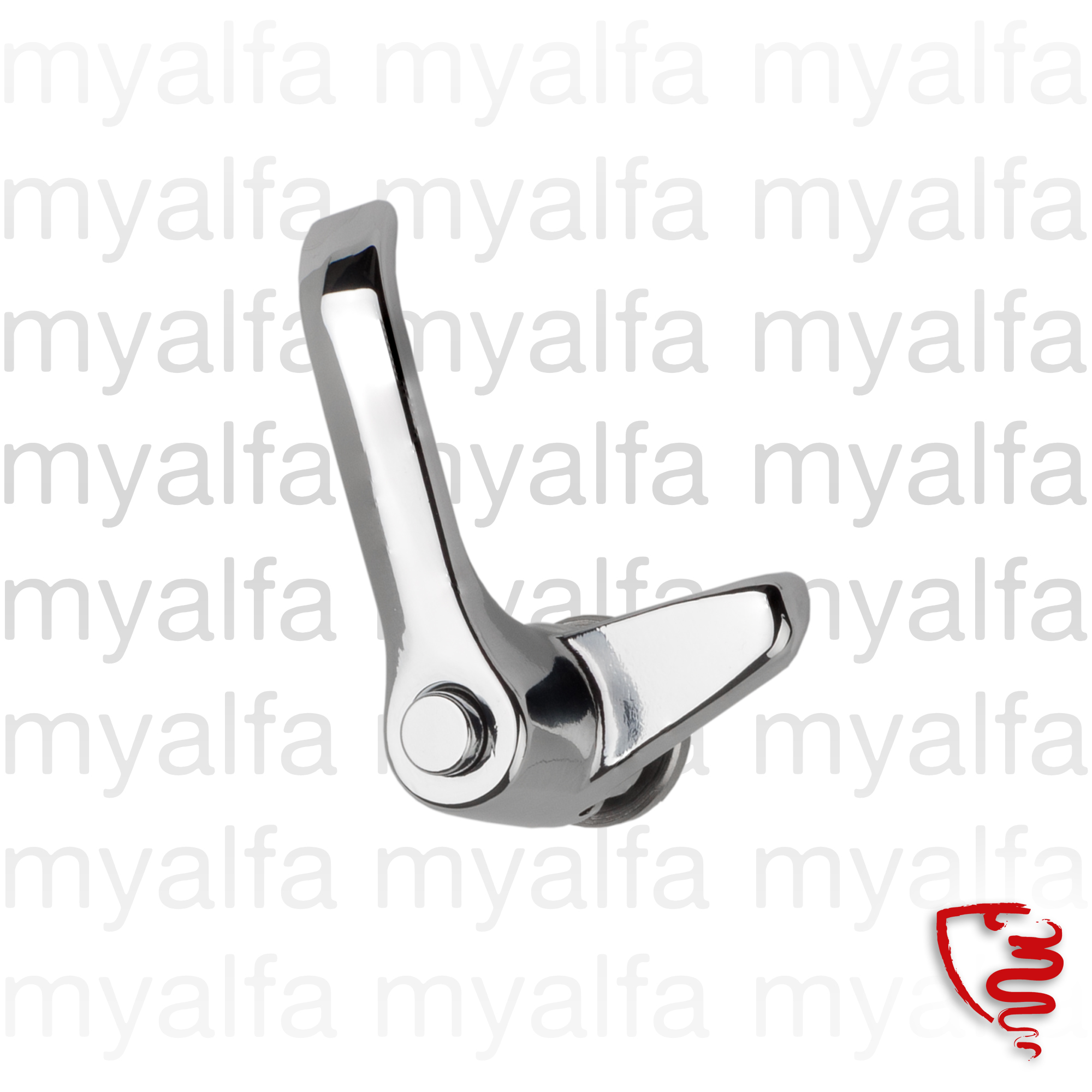 Latch dt.º Spider deflector, Giulia for 105/115, Giulia, Coupe, Spider, Body parts, Chrome Parts, Door