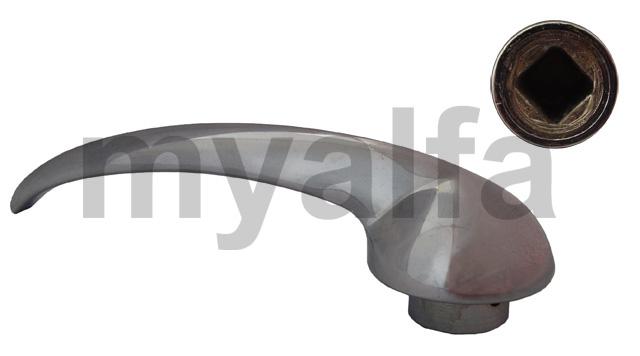 The inner door handle (750/101) 1ªSerie for 750/101, Body parts, Chrome Parts, Door