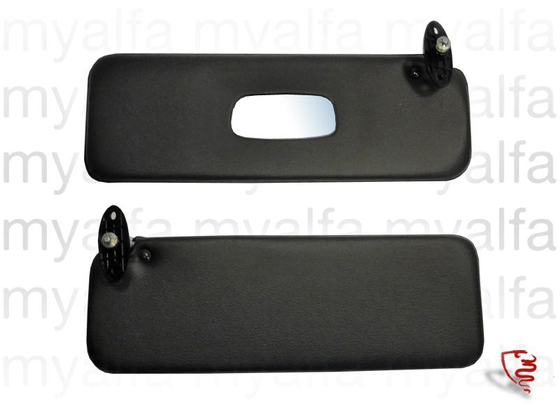 sun visors set GT black / beige for 105/115, Coupe, Headliner/sun visor/hat rest
