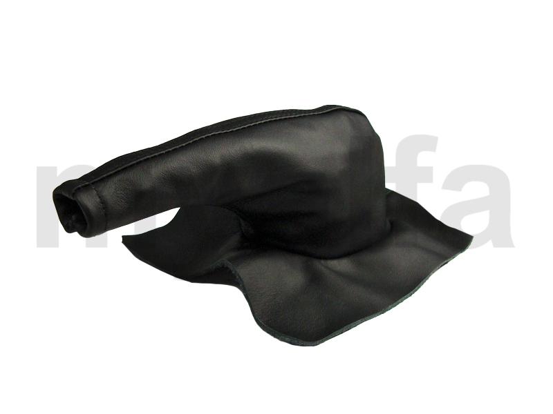 handbrake gaiter in black skin Spider 1966-77 for 105/115, Spider, Interior, Centre console, Trim / knobs / comands