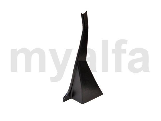 Pastern B-pillar Spider 1966-69 - dt black plastic for 105/115, Spider, Headliner/sun visor/hat rest