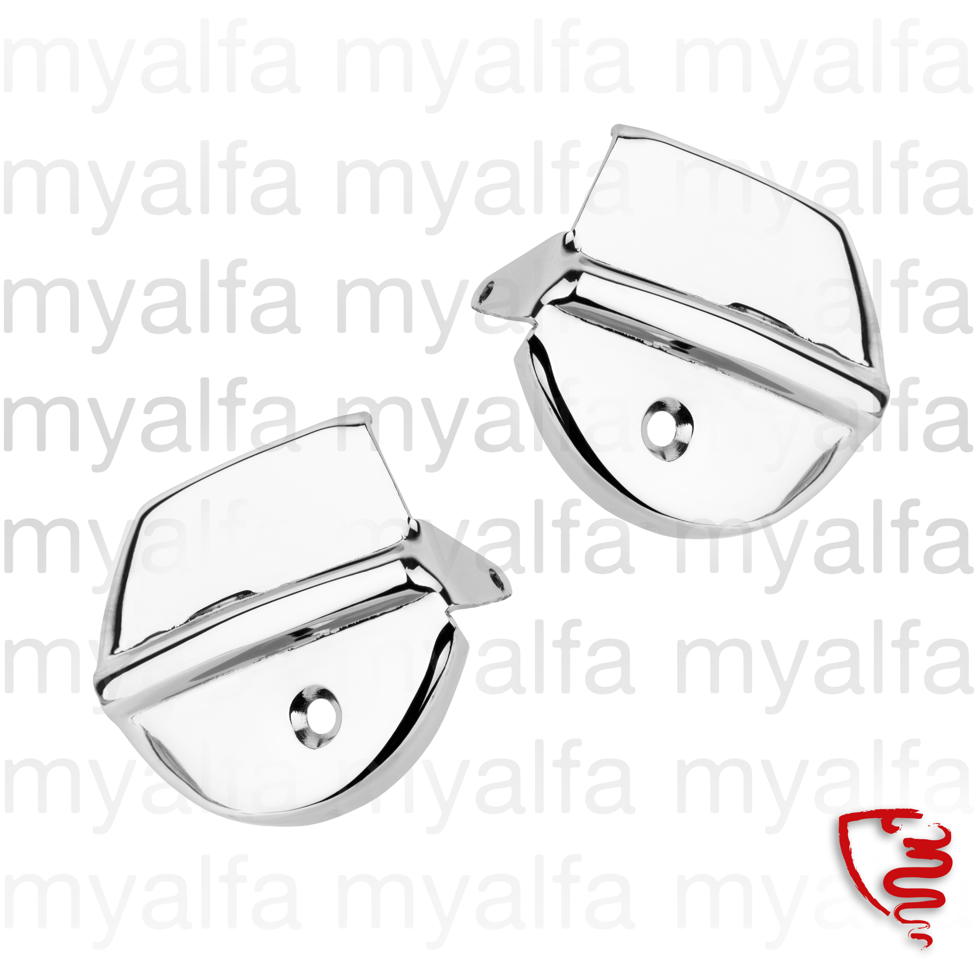 Conj. glass frame 750 covers Giulietta Spider for 750/101, Spider, Body parts, Chrome Parts, Door