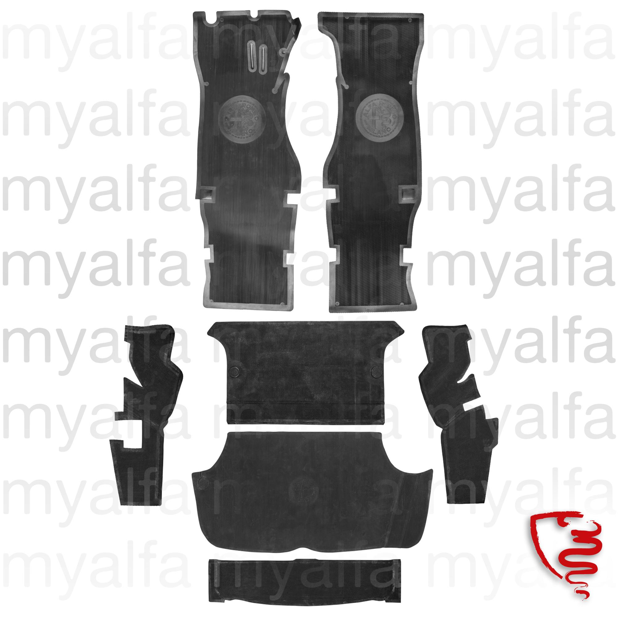 Set of rubber mats GT Bertone - Black for 105/115, Coupe, Interior, Flooring, Rubber mats