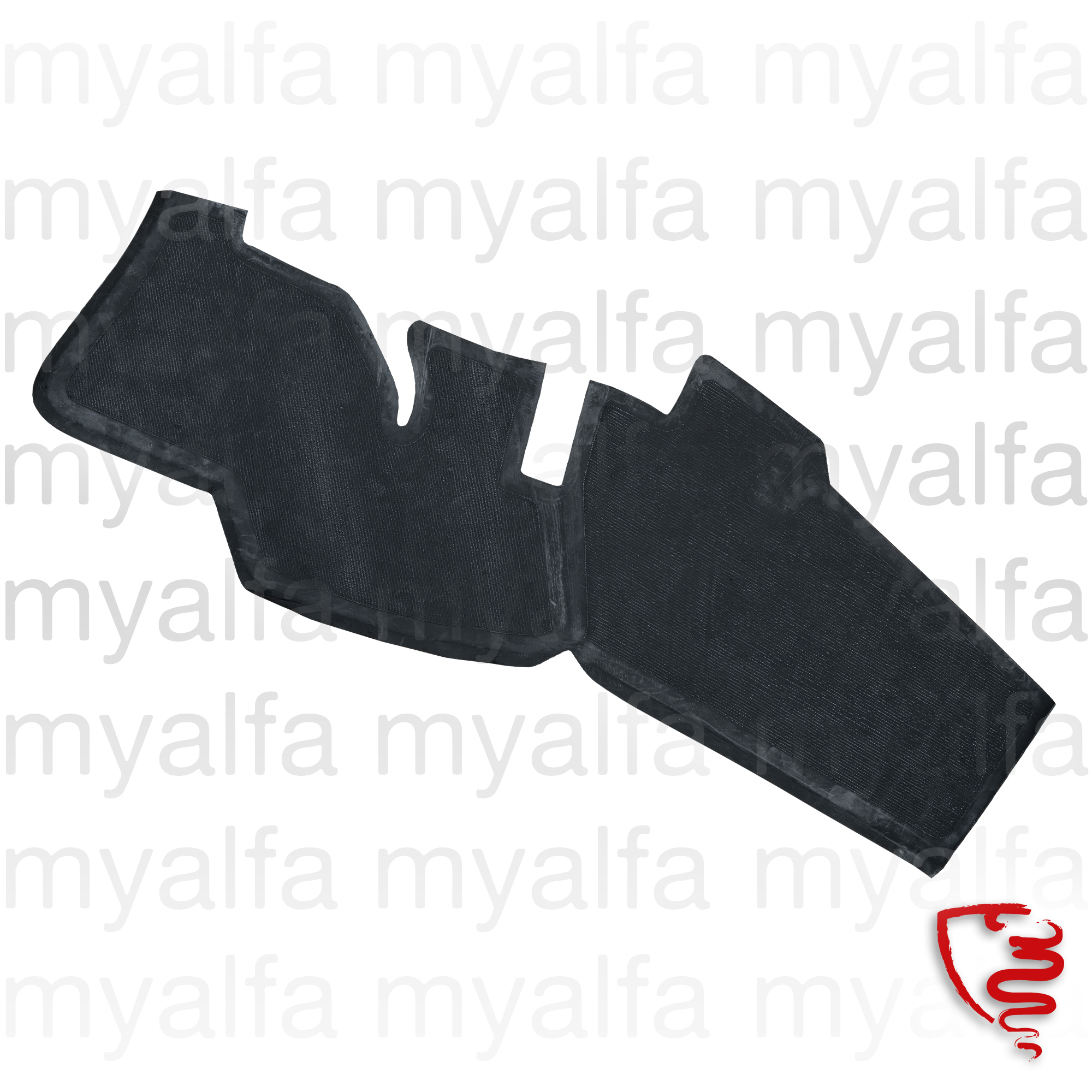 Carpet right side rubber bag GT Bertone for 105/115, Coupe, Interior, Flooring, Rubber mats