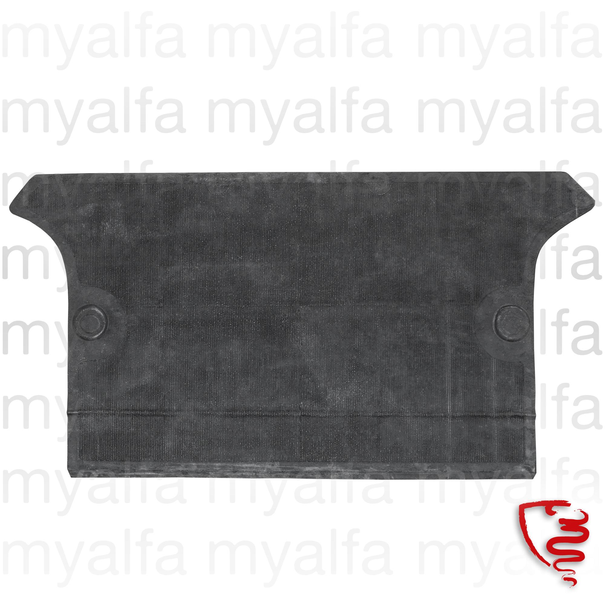 Rubber mat front bag panel - Giulia / GT Bertone for 105/115, Giulia, Coupe, Interior, Flooring, Rubber mats