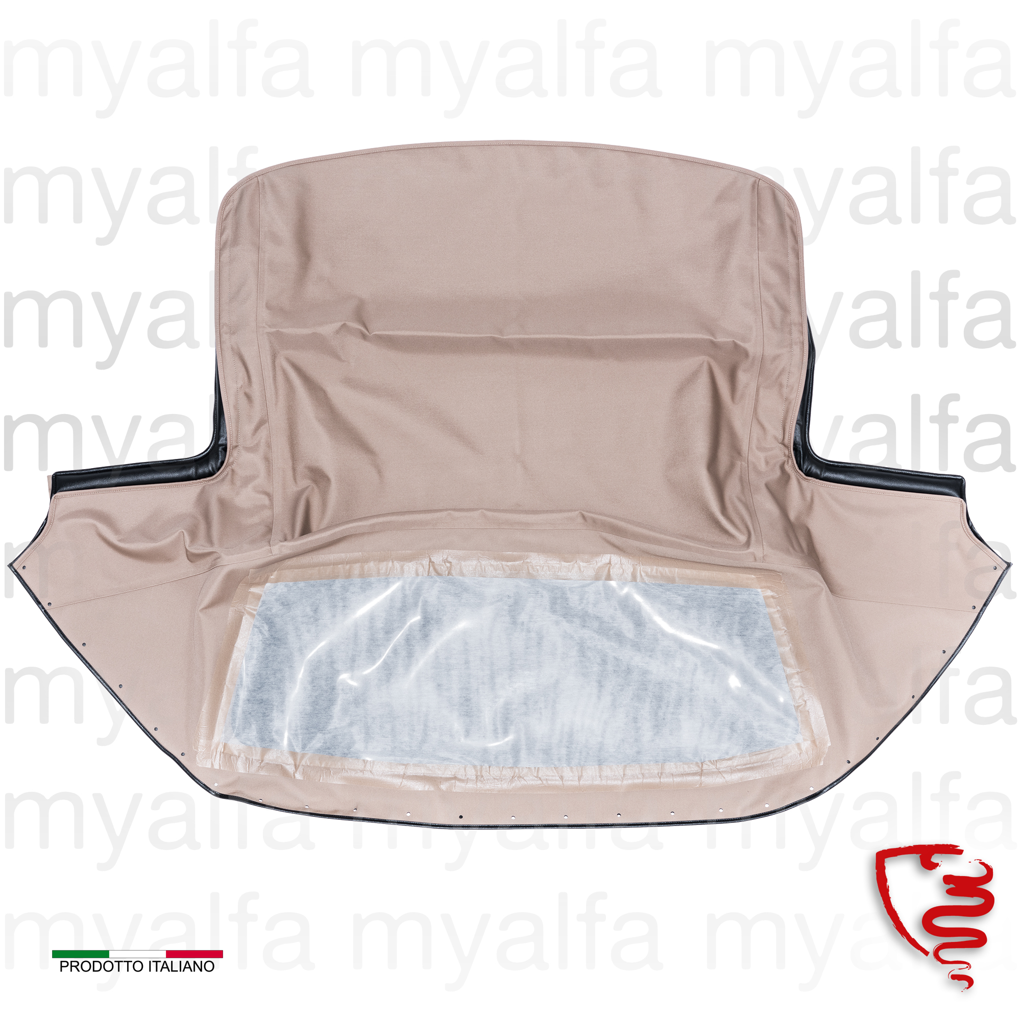 Roof canvas beige clear Sonneland Spider 1970-93 for 105/115, Spider, Body parts, Top Covers, Convertible top
