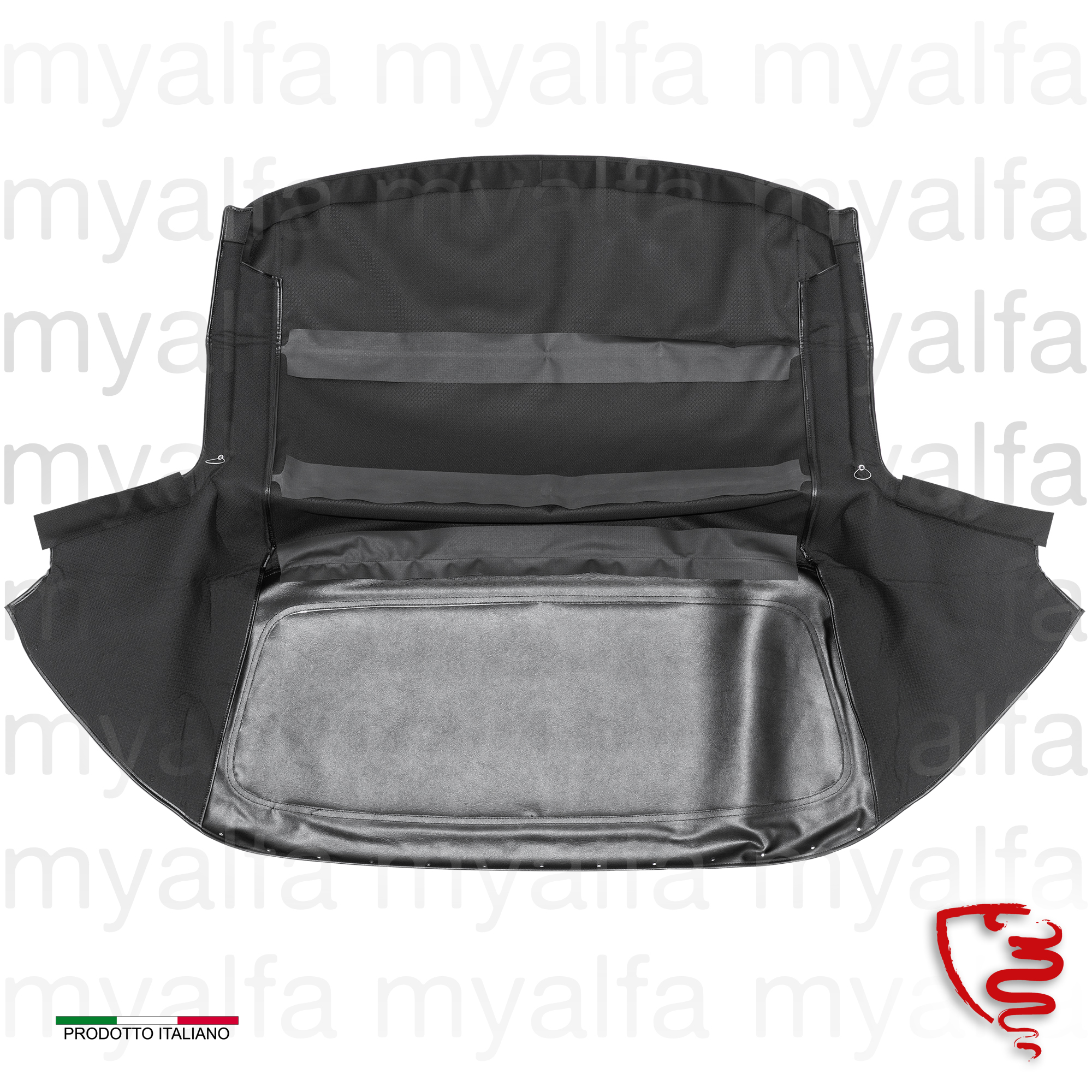 Bonnet Red Canvas in Sonneland Spider 1970-93 for 105/115, Spider, Body parts, Top Covers, Convertible top