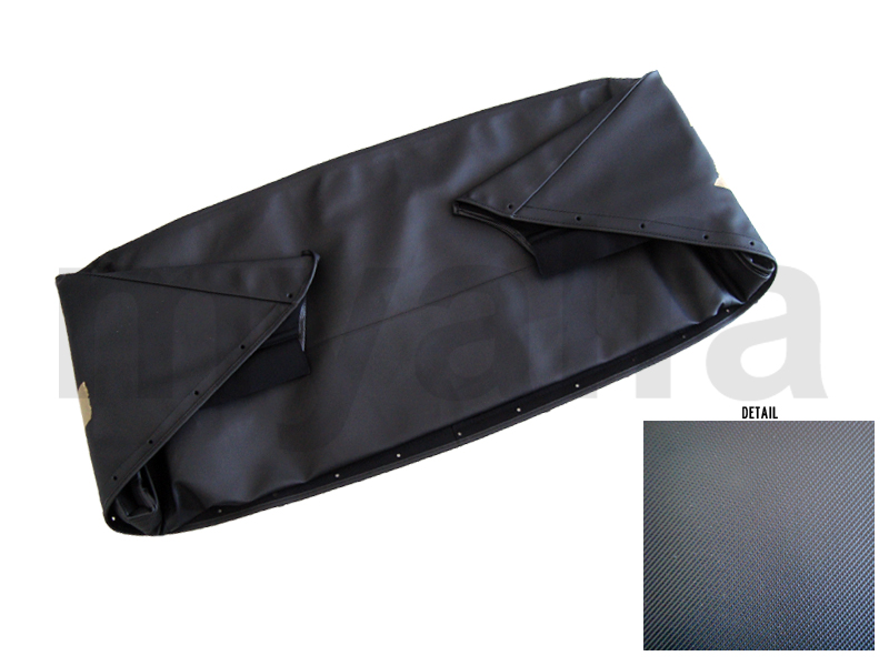 Bonnet black canvas on PVC Spider 1970-93 for 105/115, Spider, Body parts, Top Covers, Convertible top