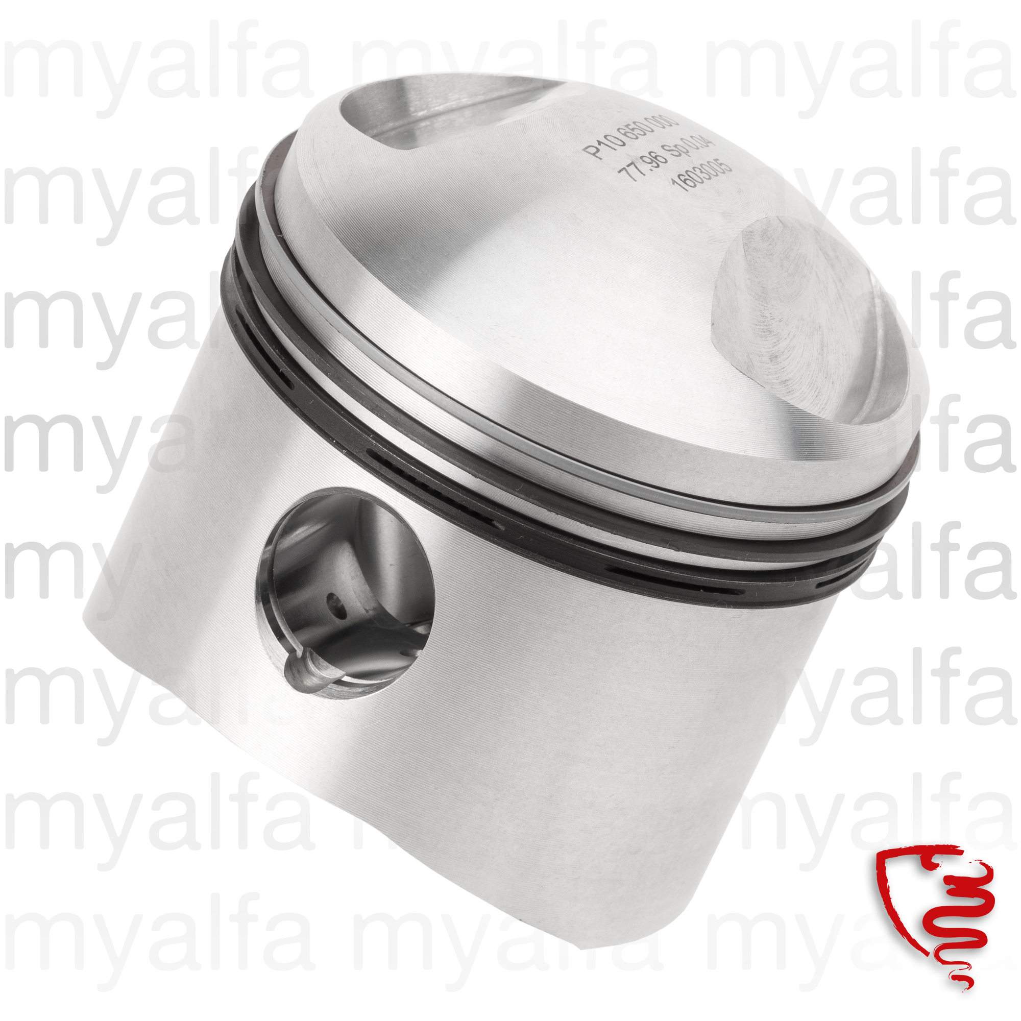 Shirts game, Pistons and segments GTV 1600 unit for 105/115, Engine, Engine Block, Piston/liner