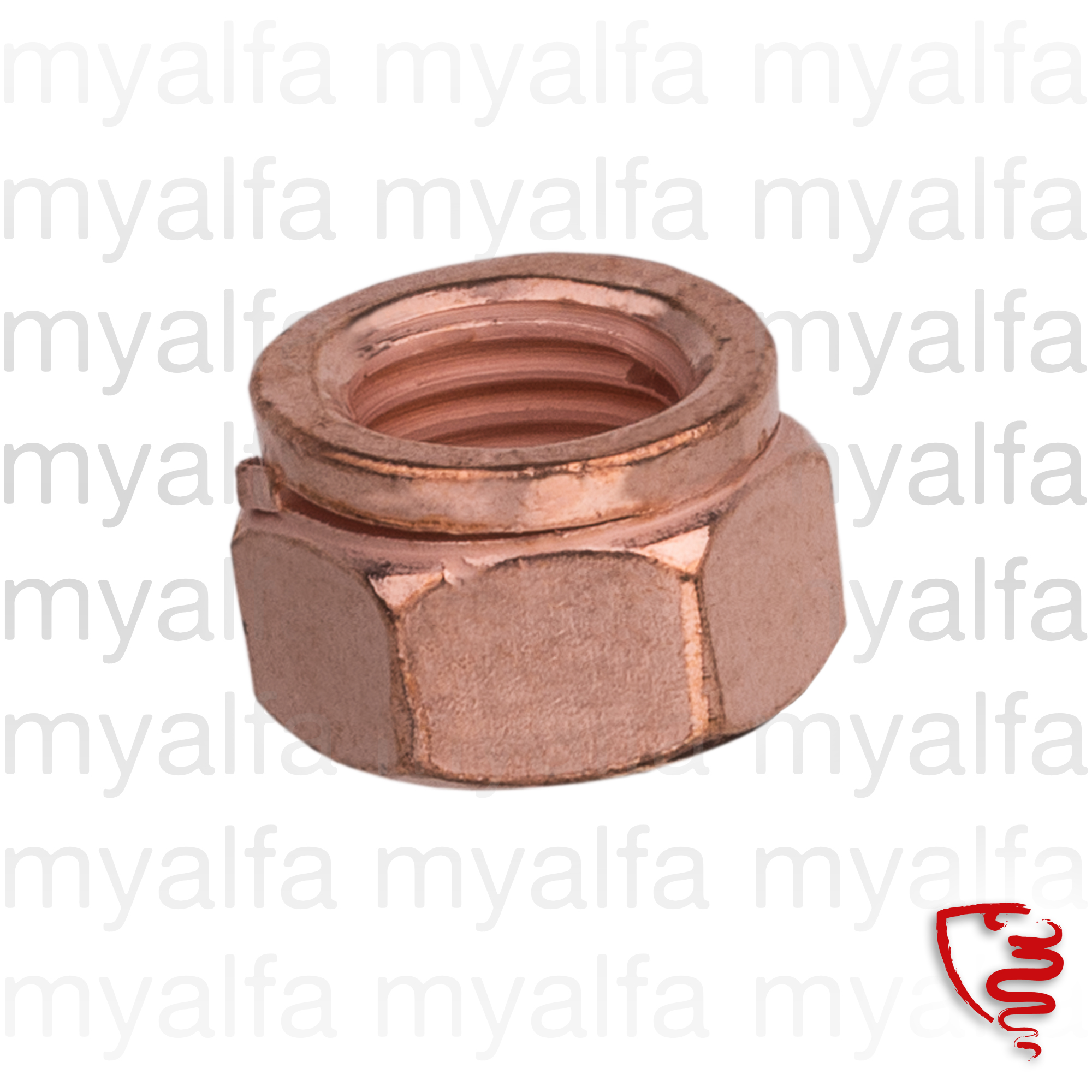 Nut 8x1 exhaust manifold for 12mm copper for 105/115, Exhaust System, Exhaust