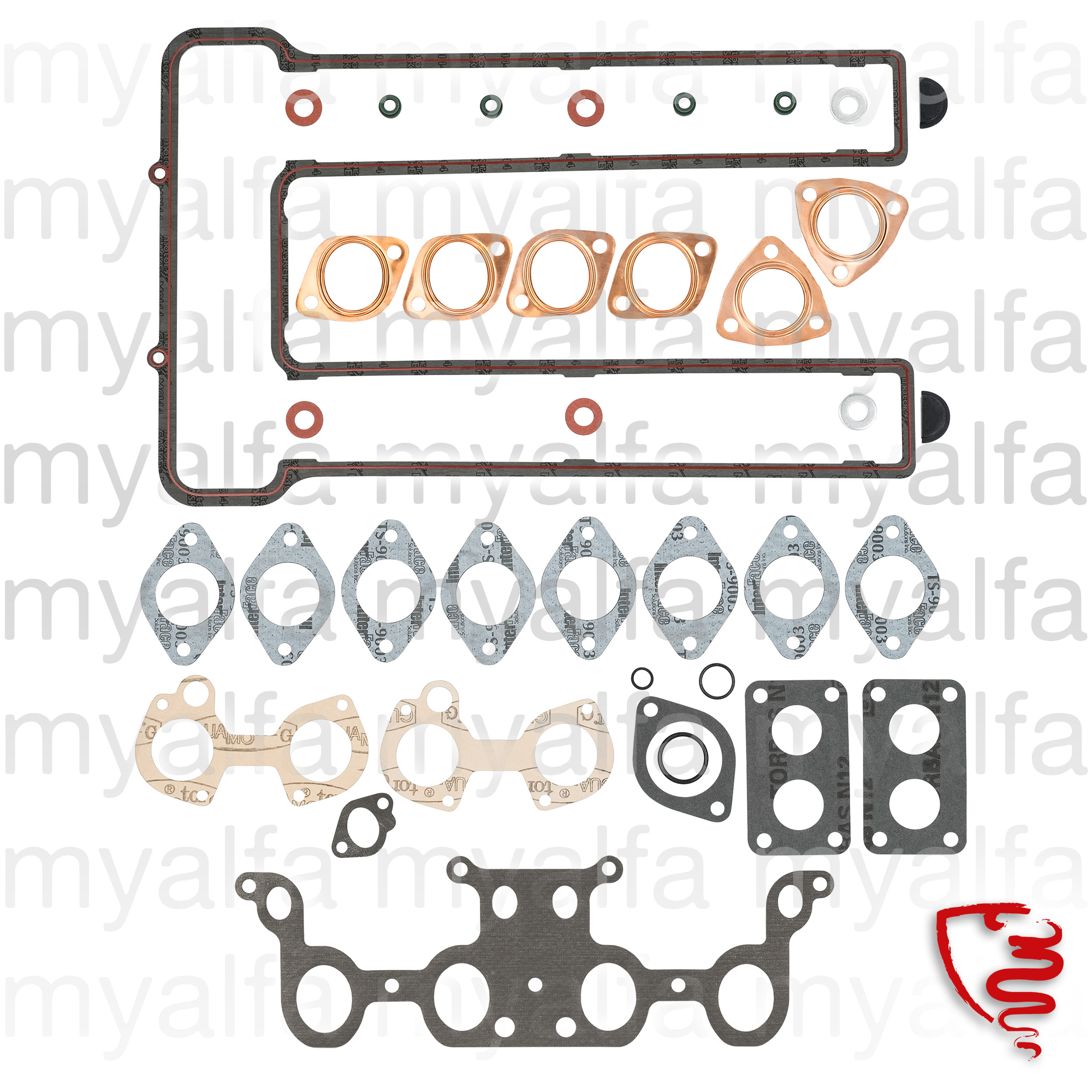 Game descarbunização joints without head gasket 1968 for 750/101, 105/115, Coupe, GTC, Junior, Engine, Engine Gaskets, Complete Gasket Sets