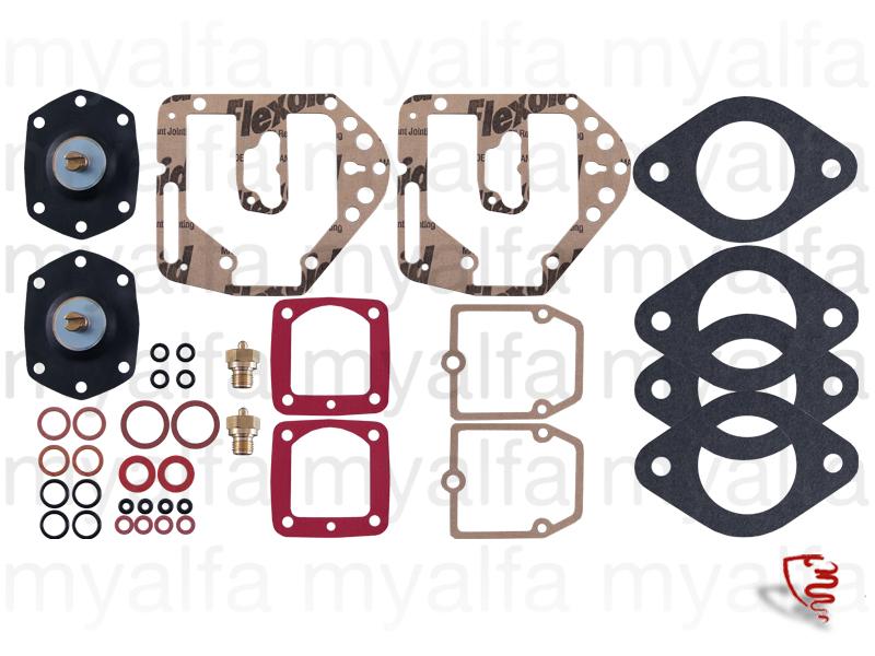 restoration kit Solex carburetors ADDHE 32 for 105/115, Fuel system, Carburettors and Parts, Solex Carburettors, Service kits & Gaskets sets