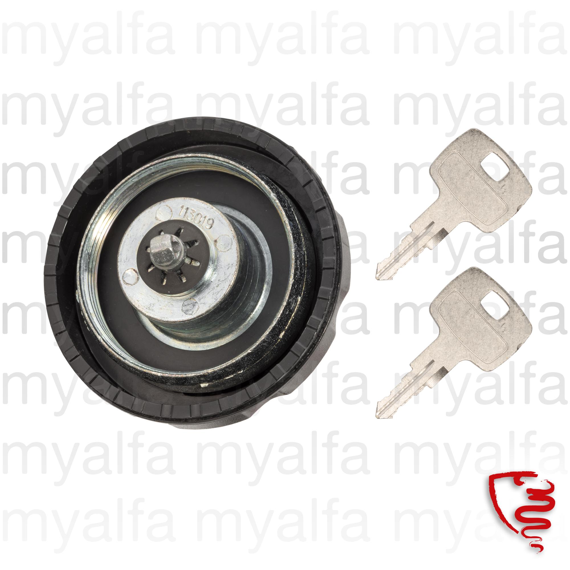 Fuel tank lid - locking screw for 105/115, Fuel system, Fuel Tank