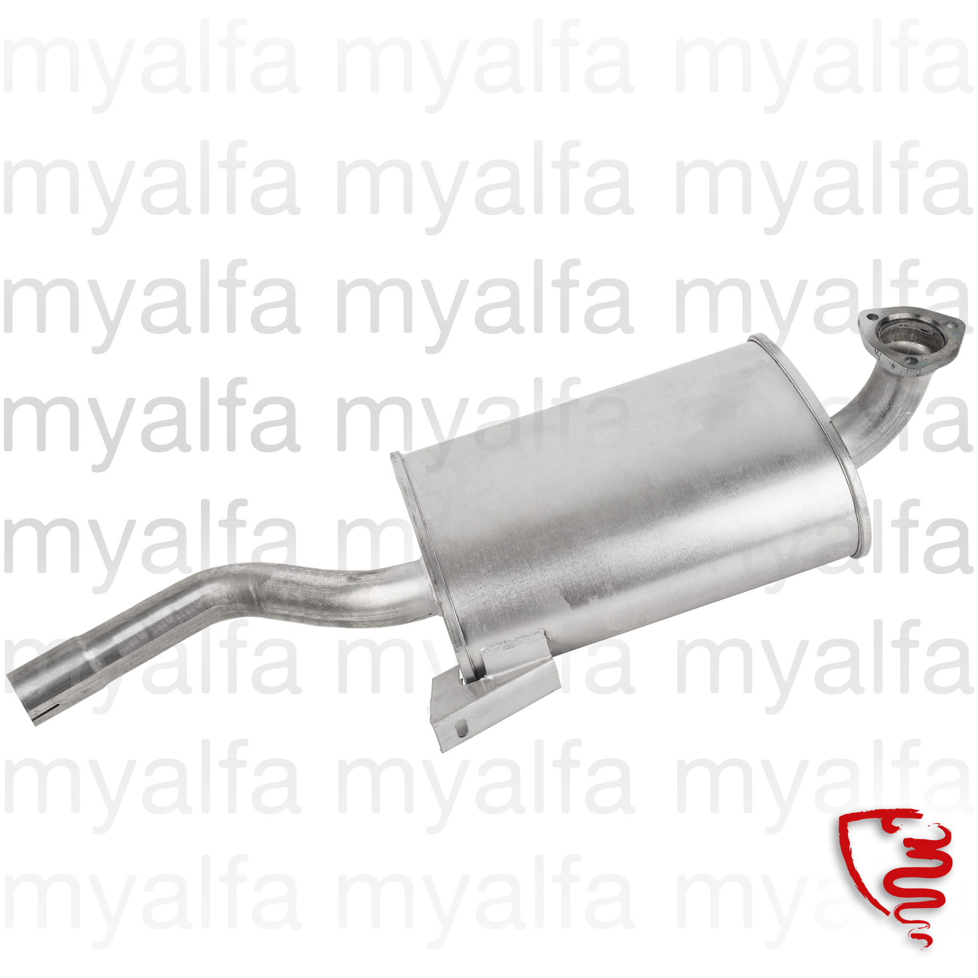 muffler middle Spider without catalyst for 105/115, Spider, Exhaust System, Exhaust