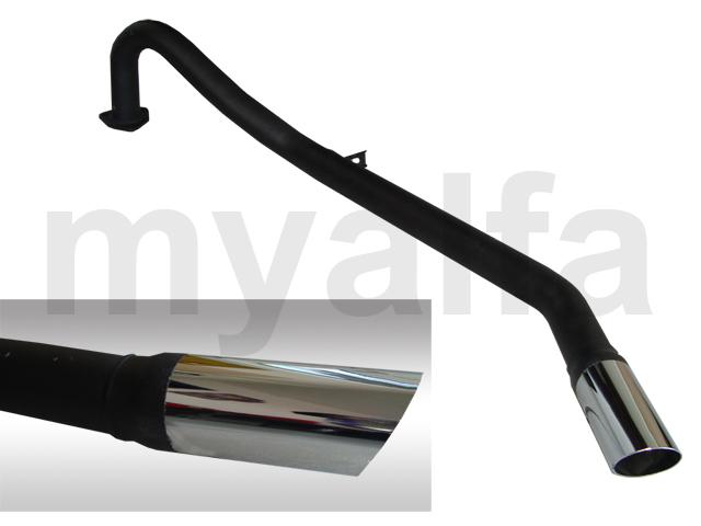 no pot pipe end exhaust Giulia / GTbertone for 105/115, Giulia, Coupe, Berlina, Exhaust System, Exhaust
