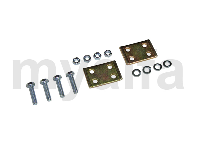 Mounting kit of the differential carrier straps for 105/115, Chassis Mount, Rear suspension, Trailing Arms/bushings