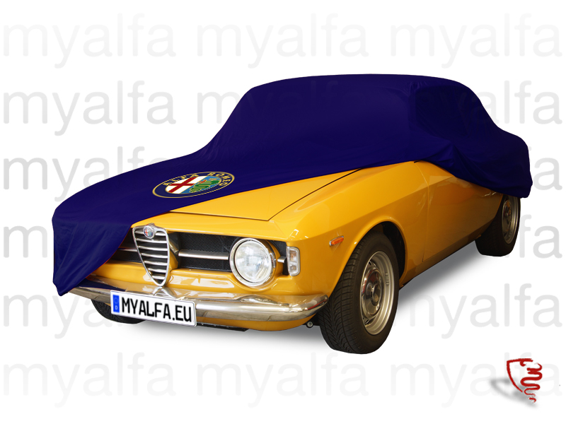 Cover cover p / Gt Bertone c / Logo AR and purse Blue for 105/115, Accessories, Car Covers