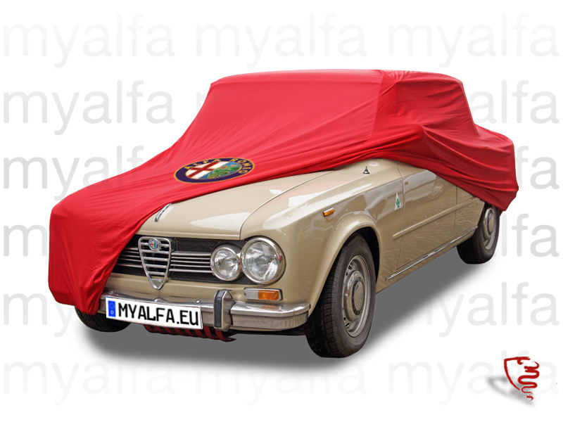 red blanket cover with Giulia badge and bag for 105/115, Accessories, Car Covers