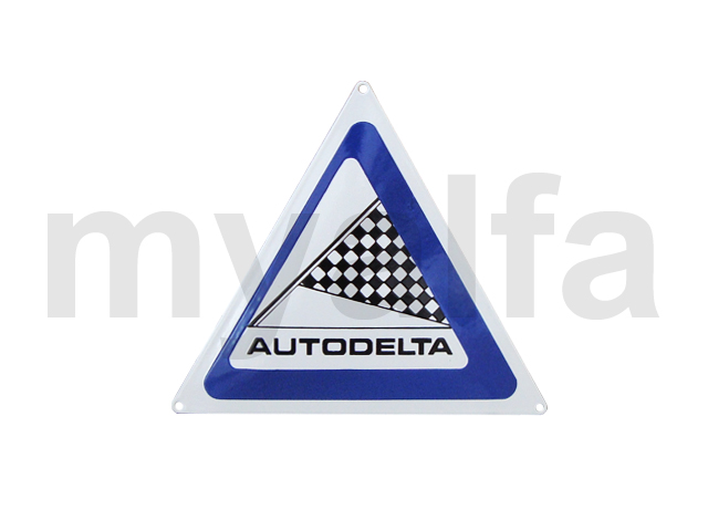 Enamelled plate Autodelta for Alfa Romeo, Accessories, Enamel sign boards