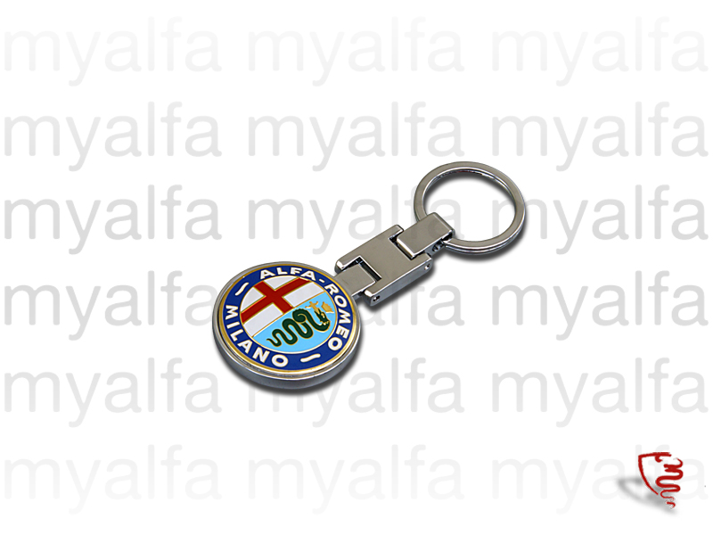 Keychains with symbol AR Milano for Alfa Romeo, Accessories, Key rings