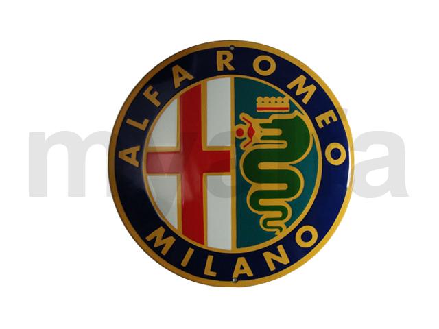 Glazed Alfa Romeo Milano board for Alfa Romeo, Accessories, Enamel sign boards