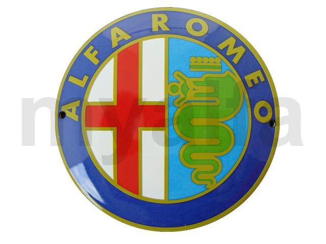 Enamelled plate badge Alfa Romeo for Alfa Romeo, Accessories, Enamel sign boards
