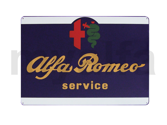 Enamelled plate Alfa Romeo Great Service for Alfa Romeo, Accessories, Enamel sign boards