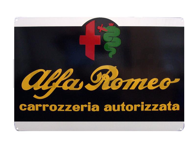 Enamelled plate Alfa Romeo carrozzeria great for Alfa Romeo, Accessories, Enamel sign boards