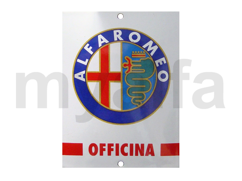 enamelled plate Alfa Romeo small officina for Alfa Romeo, Accessories, Enamel sign boards