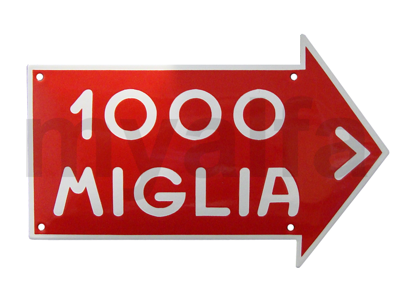 enamelled plate Mille Miglia for Alfa Romeo, Accessories, Enamel sign boards