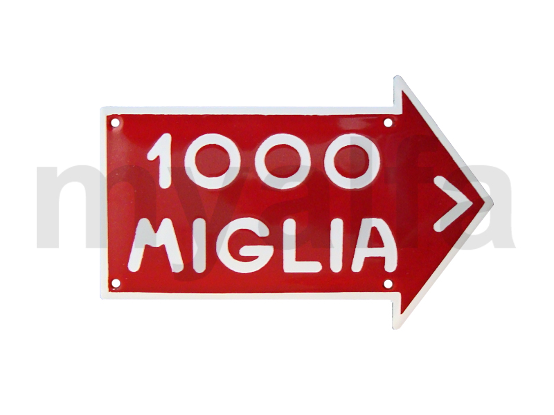 Mille Miglia small enameled plate for Alfa Romeo, Accessories, Enamel sign boards