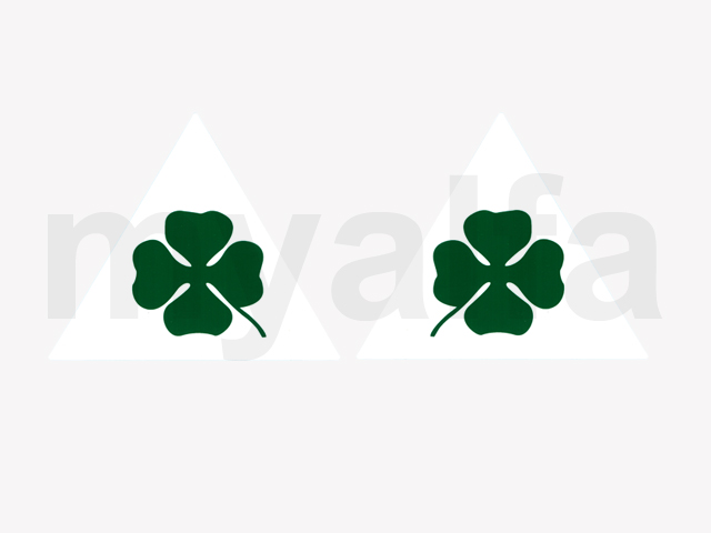 Game leaf clover stickers of the dt / large Esqº for 105/115, Stickers
