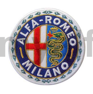 Embroidery badge Alfa Romeo Milano for Alfa Romeo, Accessories, Embroidered patches