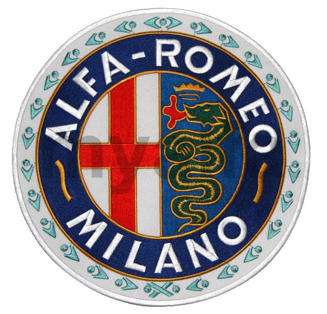 Embroidered Alfa Romeo Milano Grande for Alfa Romeo, Accessories, Embroidered patches