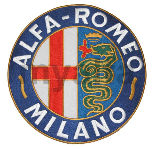 Embmema Embroidery Alfa Romeo 245mm for Alfa Romeo, Accessories, Embroidered patches