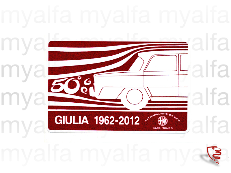 Sticker Giulia 1962 - 2012 Red and White for 105/115, Stickers